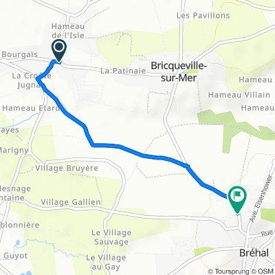 De 52 Route du Havre de la Vanlée, Bricqueville-sur-Mer à 9B Rue de la Libération, Bréhal