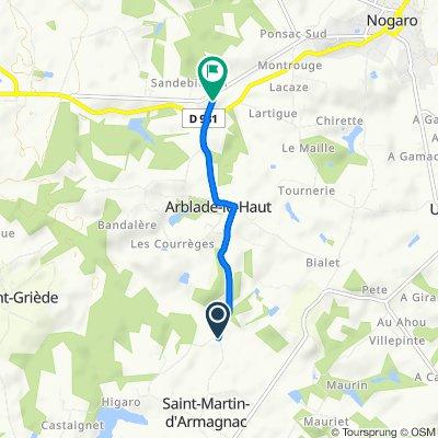 De Unnamed Road, Saint-Martin-d'Armagnac à D931, Arblade-le-Haut