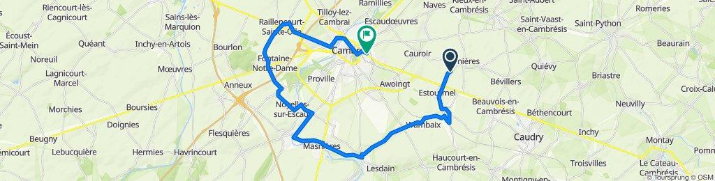 De Route d'Estourmel, Carnières à 14 Rue de Carnières, Cambrai