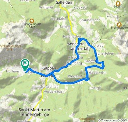 Kresl-Runde: Lammertal - Lungötz -  Neubachtal - Annaberg - Lungötz - Lammertal