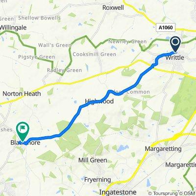 18–20 Saint John's Road, Chelmsford to Blackmore House, Fingrith Hall Lane, Ingatestone