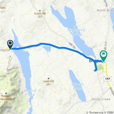 Moderate route in Bridgton