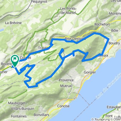 Gorges de l'Areuse-Roche Devant-Creux du Van