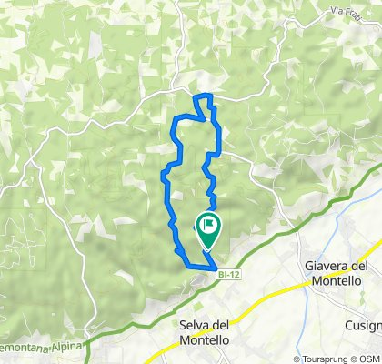 Da Via Antonio Gorini 11, Selva del Montello a Via Antonio Gorini 11, Selva del Montello