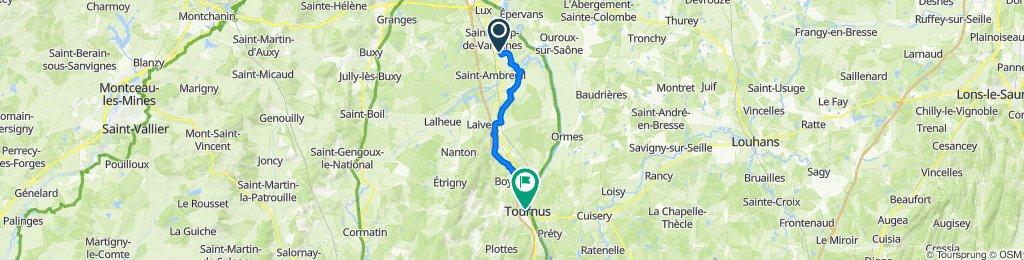 De 2 Chemin de la Cure, Varennes-le-Grand à 8 Rue Gabriel Jeanton, Tournus