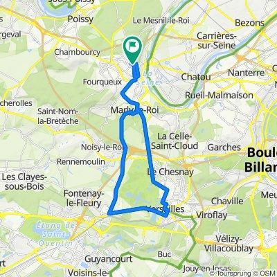 A bicyclette de Saint-Germain-en-Layeà Versailles