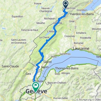 L'Auberson - Genève par la haute chaîne du Jura