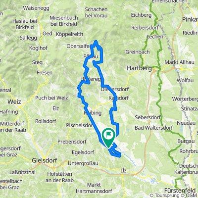 Radtour  Ilz Stubenberg Pöllauberg Kaindorf