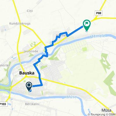 Route from Sporta iela 20k-1–28, Bauska