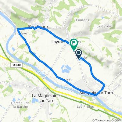 De 645 Route de Mirepoix, Layrac-sur-Tarn à 608 Route de Mirepoix, Layrac-sur-Tarn