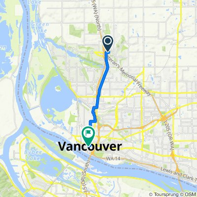 2207 NE 140th St, Vancouver to 1207 Esther St, Vancouver