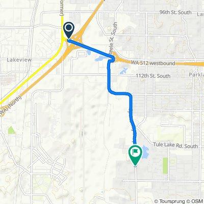 SR-512 W, Lakewood to 13300–13392 Spanaway Loop Rd S, Tacoma