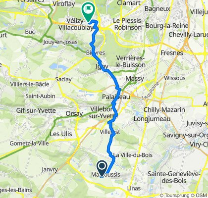 De 15 Rue de la Jacquemarderie, Marcoussis à 1 Rue Nieuport, Vélizy-Villacoublay