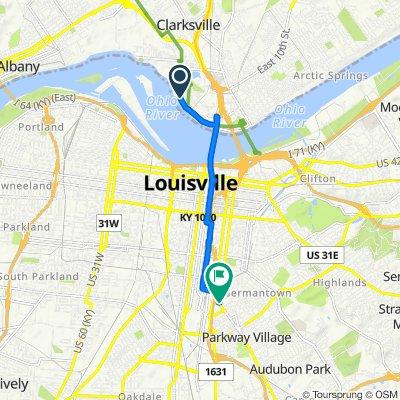217 W Winbourne Ave, Clarksville to 501–599 Augustus Ave, Louisville