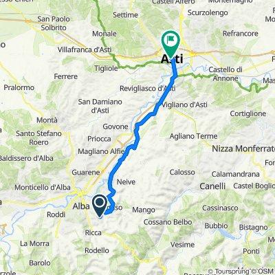 Unnamed Road, Alba naar Corso Dante Alighieri 3, Asti