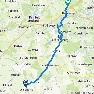 Steinhorster Weg 2, Schiphorst nach A20, Hamberge