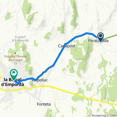 Carrer Riera, Forallac naar Carrer del Sis d'Octubre de 1869, 29–31, La Bisbal d'Empordà