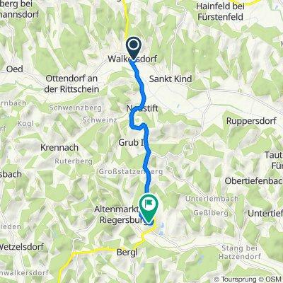 Walkersdorf 120, Ottendorf an der Rittschein nach Riegersburg 4, Riegersburg
