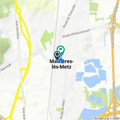 De Route de Marange, Maizières-lès-Metz à 38–46 Rue du Parc, Maizières-lès-Metz