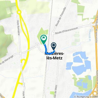 De 38–46 Rue du Parc, Maizières-lès-Metz à 2B Route de Marange, Maizières-lès-Metz