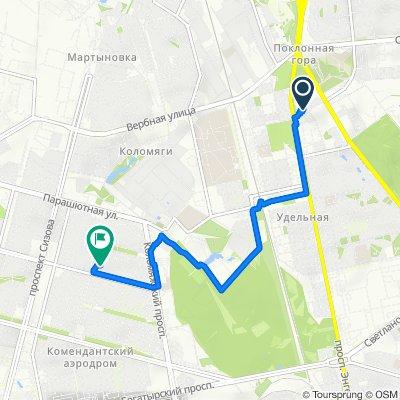 От проспект Энгельса 93, Санкт-Петербург до Серебристый бульвар 29 корпус 2, Санкт-Петербург