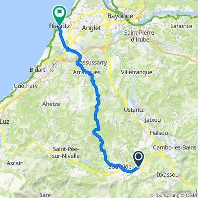 De 390 Route Karrika Nagusia, Espelette à 20 Avenue Édouard VII, Biarritz