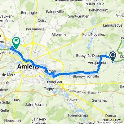 De 9 Rue de l'Abbaye, Aubigny à 119 Rue Gutenberg, Amiens