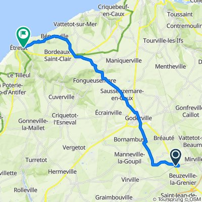 Itinéraire vers 1 Avenue Nungesser et Coli, Étretat