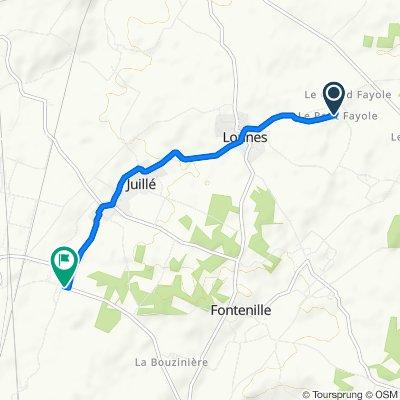 2 Impasse du Chamoine, Lonnes nach Route de la Butte des Chardons, Juillé