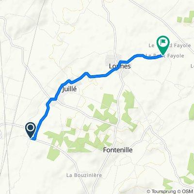 Villesoubis, Juillé nach 1 Rue du Puits de la Lourde, Lonnes