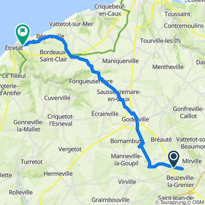De 201 Route de la Gare, Bréauté à 22 Chemin Damilaville, Étretat