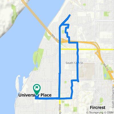 8520 25th St W, University Place to 8520 25th St W, University Place