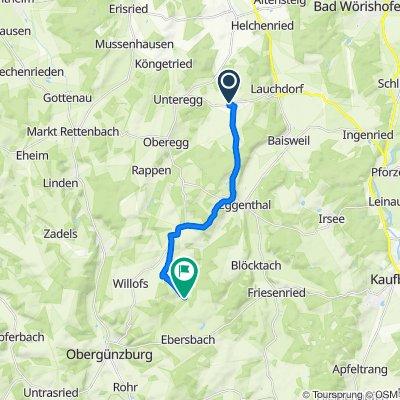 Am Anger 5, Unteregg nach Gfällmühle 3, Obergünzburg