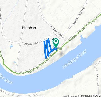 63 Pecan Ave, Harahan to 25 Bailey St, Harahan