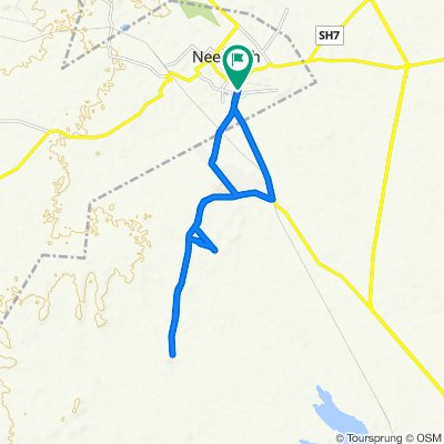 Route from Mhow - Neemuch Road