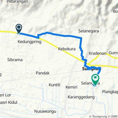 Route to Jalan Selandaka-Karanggedang 11, Kecamatan Sumpiuh