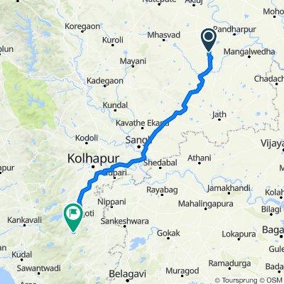 Velapur - Sangola Road, Waki Shivane to Ajara Gargoti Road