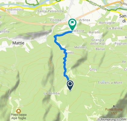 De Via San Rocco 2, Bussoleno à Frazione Tignai 43, Tignai