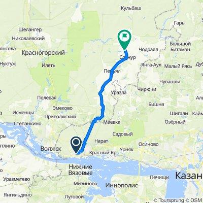 От улица Татарстан 20, Зеленодольск до Unnamed Road, Шарибоксад