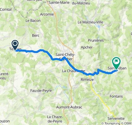Le Village, Termes naar 28 Grand'Rue, Saint-Alban-sur-Limagnole