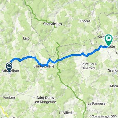 28 Grand'Rue, Saint-Alban-sur-Limagnole naar Soubre l'Oustal, Saint-Symphorien