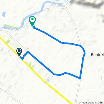 Jalan Poros Palopo - Makassar, Kecamatan Pangkajene to Jalan Cendana Timur 59, Kecamatan Pangkajene