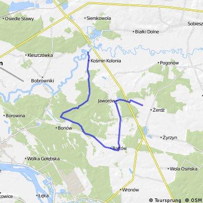 projekt szlaku rowerowego w Gm. Żyrzyn (cz. zachodnia)