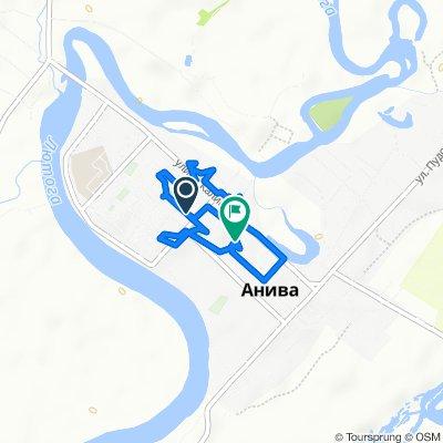 От улица Ленина, Анива до улица Чехова, Анива