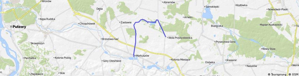 projekt szlaku rowerowego w Gm. Markuszów