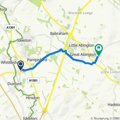 Whittlesford parkway to Hildersham
