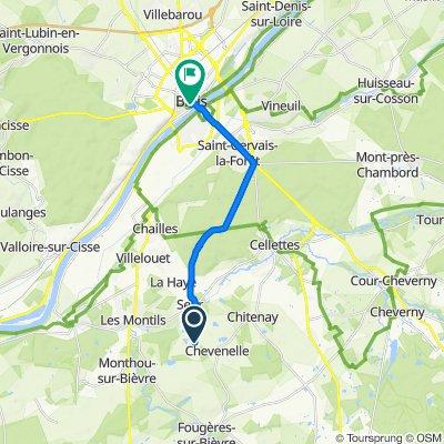 De Chopier, Ouchamps à 13 Place Louis XII, Blois