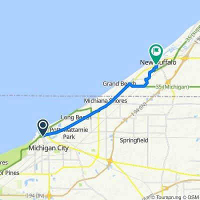 100 E Michigan Blvd, Michigan City to 2–46 N Smith St, New Buffalo