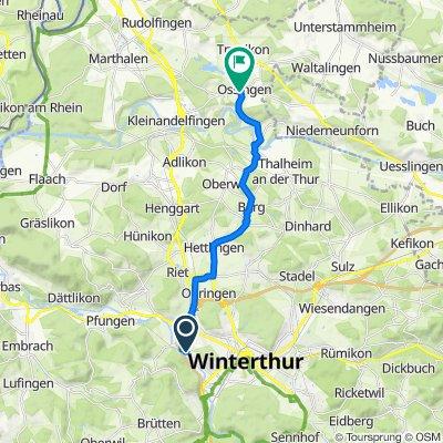 Schlossmühlestrasse 273, Winterthur nach Truttikerstrasse 2, Ossingen
