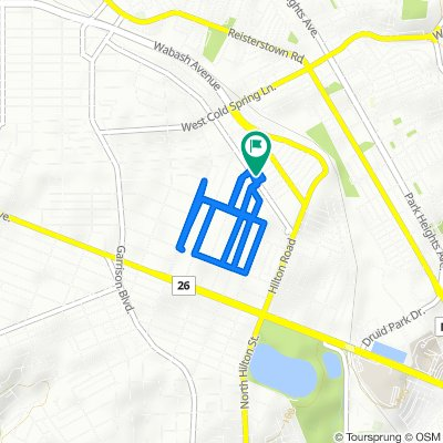 3452 Dolfield Ave, Baltimore to 3448 Dolfield Ave, Baltimore